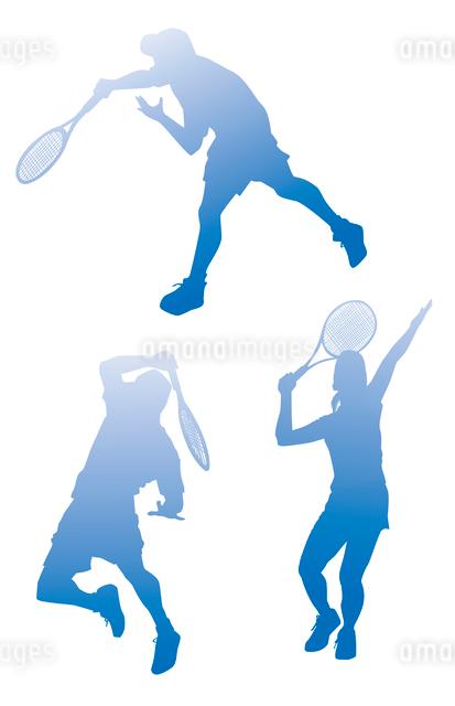 テニスシルエットのイラスト素材 [FYI01654700]