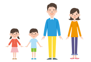 家族の立ち姿のイラスト素材 [FYI01655006]