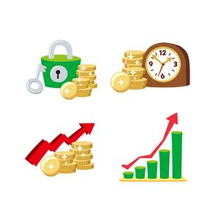 金融(セキュリティ、時は金なり、グラフ)のイラスト素材 [FYI01655081]