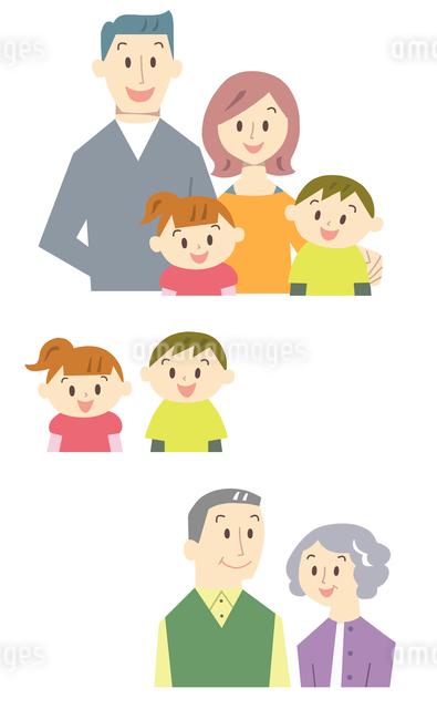 家族バストアップのイラスト素材 [FYI01655677]