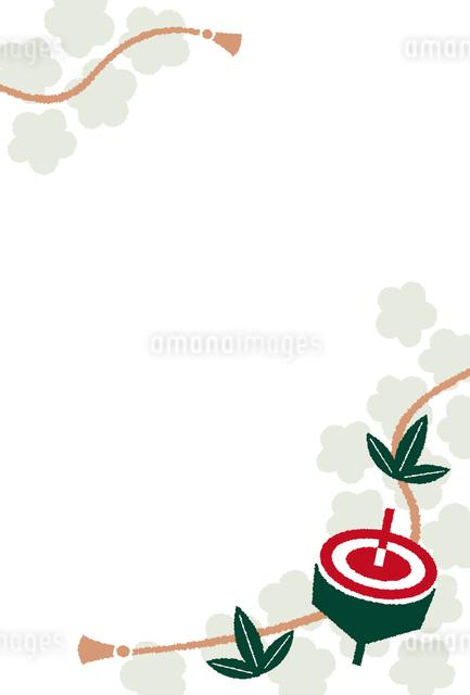 コマの年賀状のイラスト素材 [FYI01655689]