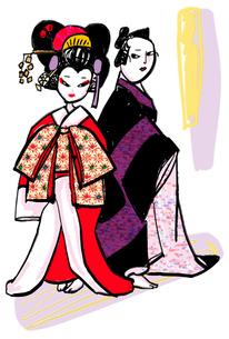 歌舞伎のイラスト素材 [FYI01656023]