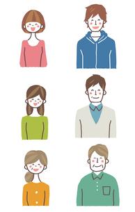 家族バストアップ(笑顔)のイラスト素材 [FYI01656273]