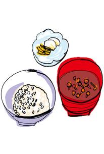 ごはんと味噌汁と漬物のイラスト素材 [FYI01656398]