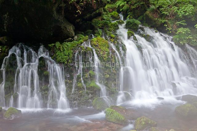 元滝伏流水 滝の流れの写真素材 [FYI01656431]