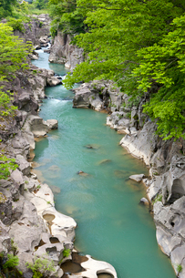 厳美渓と磐井川の写真素材 [FYI01656897]