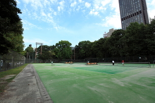 芝公園テニスコートの写真素材 [FYI01657723]