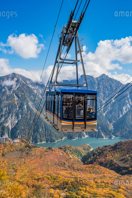 立山ロープウェイ  立山黒部アルペンルート大観峰の写真素材 [FYI01657772]