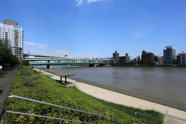 隅田川テラスの写真素材 [FYI01658749]