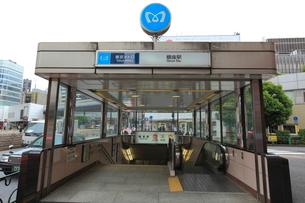 銀座駅の写真素材 [FYI01659173]