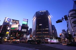 渋谷駅前夕景の写真素材 [FYI01659223]