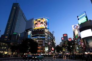 渋谷駅前夕景の写真素材 [FYI01659259]