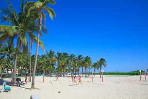 ビーチバレー マイアミビーチの写真素材 [FYI01659649]