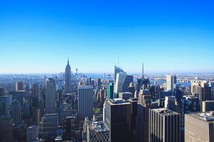 トップオブザロックから見たマンハッタン ニューヨークの写真素材 [FYI01659650]