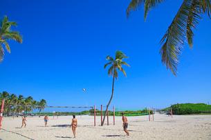 ビーチバレー マイアミビーチの写真素材 [FYI01659724]