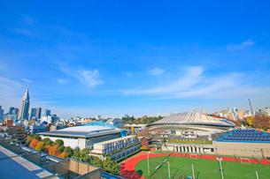 東京体育館と国立競技場の写真素材 [FYI01659867]