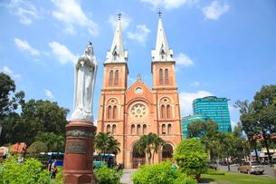 サイゴン大教会 ホーチミンの写真素材 [FYI01660649]