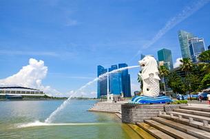 シンガポール マーライオンの写真素材 [FYI01660774]