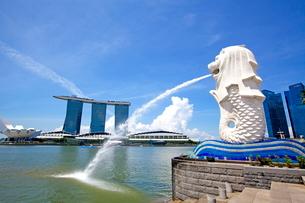 シンガポール マーライオンの写真素材 [FYI01660816]