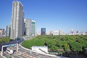世界貿易センタービルから見た汐留ビル街の写真素材 [FYI01661233]