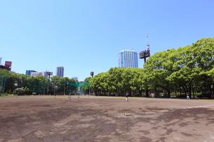 港区立野球場兼競技場の写真素材 [FYI01661327]