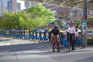マンハッタン レンタル自転車の写真素材 [FYI01661523]