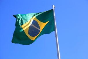 ブラジル国旗の写真素材 [FYI01661657]