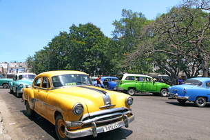 クラシックカー ハバナ旧市街の写真素材 [FYI01661858]