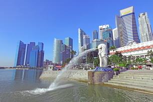 シンガポール マーライオン公園の写真素材 [FYI01661910]