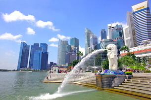 シンガポール マーライオン公園の写真素材 [FYI01662038]