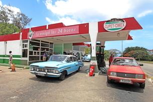 ガソリンスタンド ハバナ市内の写真素材 [FYI01662083]