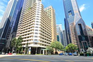 シンガポールのビジネス街の写真素材 [FYI01662740]