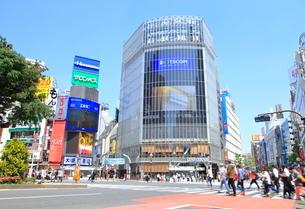 渋谷駅前スクランブル交差点の写真素材 [FYI01662803]