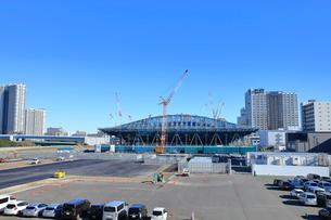 有明体操競技場の建設現場の写真素材 [FYI01663348]