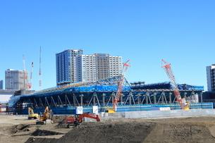 有明体操競技場の建設現場の写真素材 [FYI01663387]