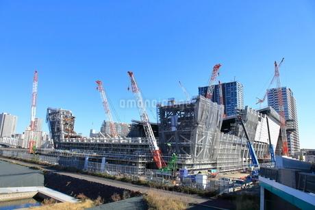 有明アリーナの建設現場の写真素材 [FYI01663462]