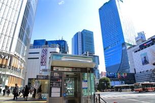 渋谷駅前スクランブル交差点 しぶちか入り口の写真素材 [FYI01663491]