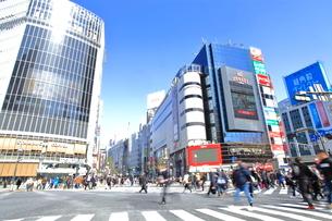 渋谷駅前スクランブル交差点の写真素材 [FYI01663562]