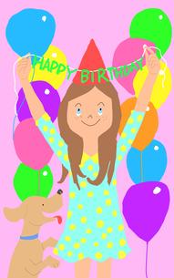 HAPPY BIRTHDAYのイラスト素材 [FYI01664019]