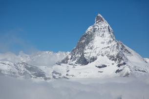 スイス マッターホルン頂上をゴルナーグラート展望台より望むの写真素材 [FYI01664025]