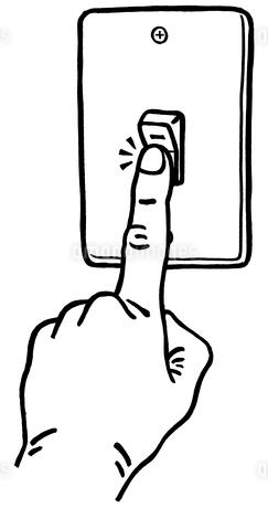 スイッチを切る指のイラスト素材 [FYI01664104]