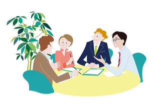 オフィスで会議をする男女 ビジネスイメージのイラスト素材 [FYI01664119]