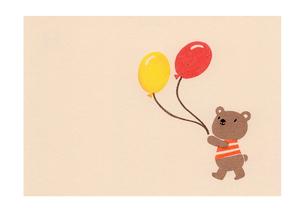 風船を持つクマのイラスト素材 [FYI01664170]