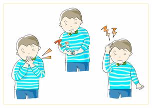 男の子 痛みのイラスト素材 [FYI01664181]