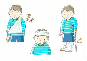 男の子 けがのイラスト素材 [FYI01664236]