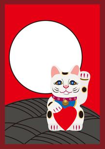 月と招き猫のイラスト素材 [FYI01664241]