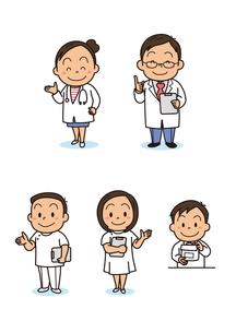 保険・医療 小児科の先生 看護師 薬剤師のイラスト素材 [FYI01664331]