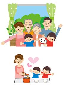 家族 料理のイラスト素材 [FYI01665419]