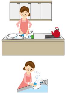 家事 食器洗いのイラスト素材 [FYI01665440]
