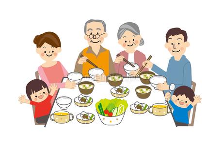 食事 家族のイラスト素材 [FYI01665448]